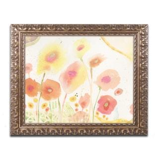 Sheila Golden 'Garden D'Oro' Ornate Framed Art