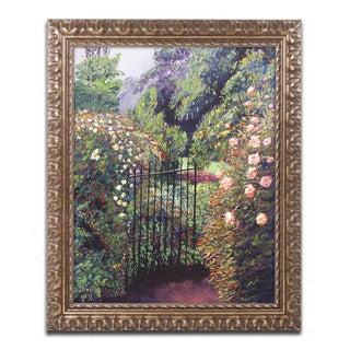 David Lloyd Glover 'Quiet Garden Entrance' Ornate Framed Art