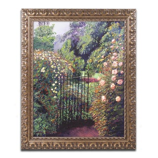 David Lloyd Glover 'Quiet Garden Entrance' Ornate Framed Art