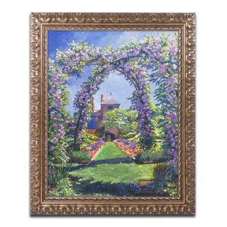 David Lloyd Glover 'English Rose Arbor' Ornate Framed Art