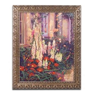 David Lloyd Glover 'English Cottage Garden' Ornate Framed Art