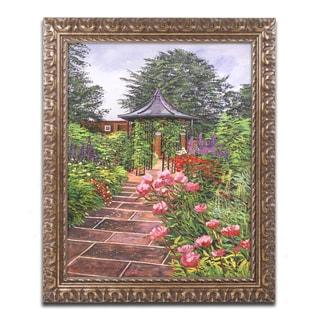 David Lloyd Glover 'Carrington Garden' Ornate Framed Art