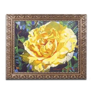 David Lloyd Glover 'Golden Rain' Ornate Framed Art