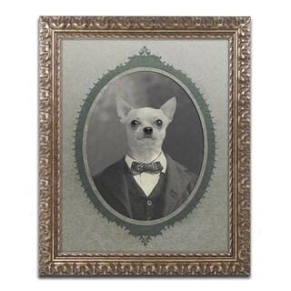 J Hovenstine Studios 'Dog Series #1' Ornate Framed Art