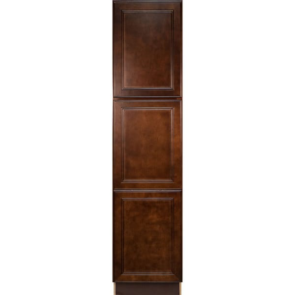 Everyday cabinets leo saddle cherry mahogany 18 inch for Kitchen cabinets 0 financing