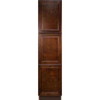 Everyday Cabinets Leo Saddle Cherry Mahogany 18-inch Pantry/Utility Kitchen Cabinet