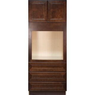 Everyday Cabinets Leo Saddle 33-inch Cherry Mahogany Oven Kitchen Cabinet