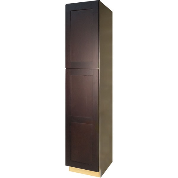 Everyday Cabinets Dark Espresso Wood 18 Inch Shaker Pantry Utility Kitchen Cabinet Free