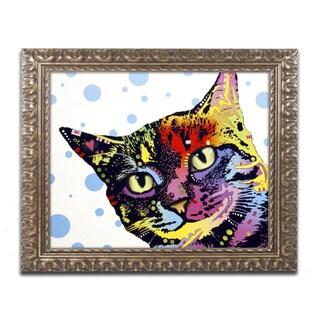 Dean Russo 'The Pop Cat' Ornate Framed Art