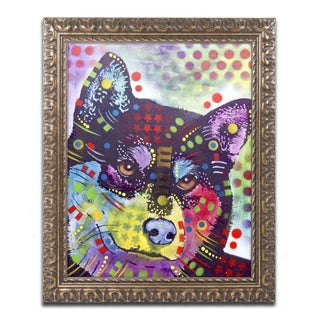 Dean Russo 'Shiba Inu' Ornate Framed Art