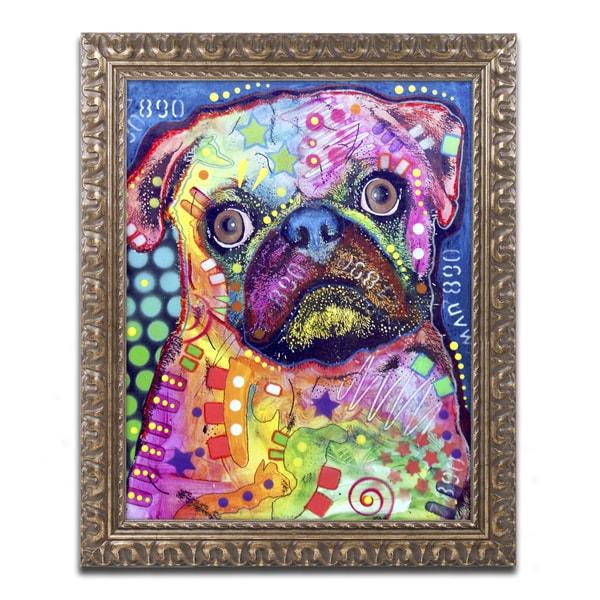 Dean Russo 'Pug 92309' Ornate Framed Art