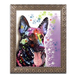 Dean Russo 'German Shepherd II' Ornate Framed Art