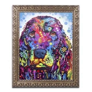 Dean Russo 'Cocker Spaniel II' Ornate Framed Art