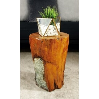Teak Wood Resin Stool