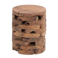 Teak Wood 18-inches High x 14-inches Wide Stool