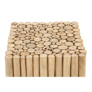 18-inch x 18-inch Square Teak Wood Stool
