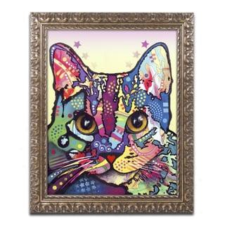 Dean Russo 'Maya Cat' Ornate Framed Art