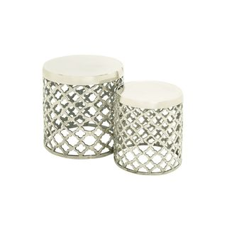 19-inch Wide x 15-inch High Aluminum Stools (Set of 2)