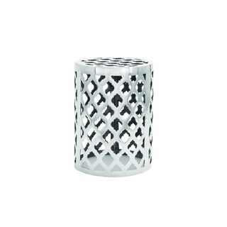 Silver Aluminum 18-inches Wide x 13-inches High Contemporary Stool