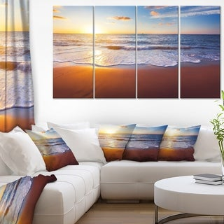 Stunning Blue Waves and Brown Sand - Beach Canvas Wall Art