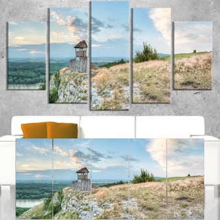 View Tower on Hill Panorama - Landscape Wall Art Canvas Print