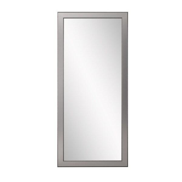 Multi Size BrandtWorks Mod Euro Silver Floor Mirror - Antique Silver