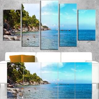 Wild Blue Beach Panorama View - Extra Large Seashore Canvas Art