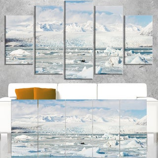 Vatnajokull Glacier in Iceland - Landscape Wall Art Canvas Print - Blue