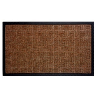 Celebration Water Hog 2-piece Tan Rubber Doormat Set