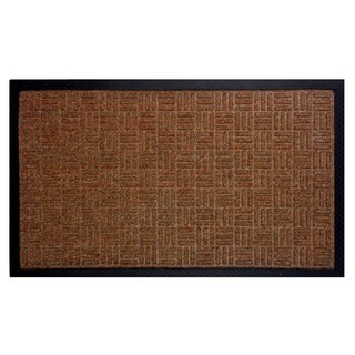 Celebration Gatekeeper 2-piece Tan Rubber Doormat Set