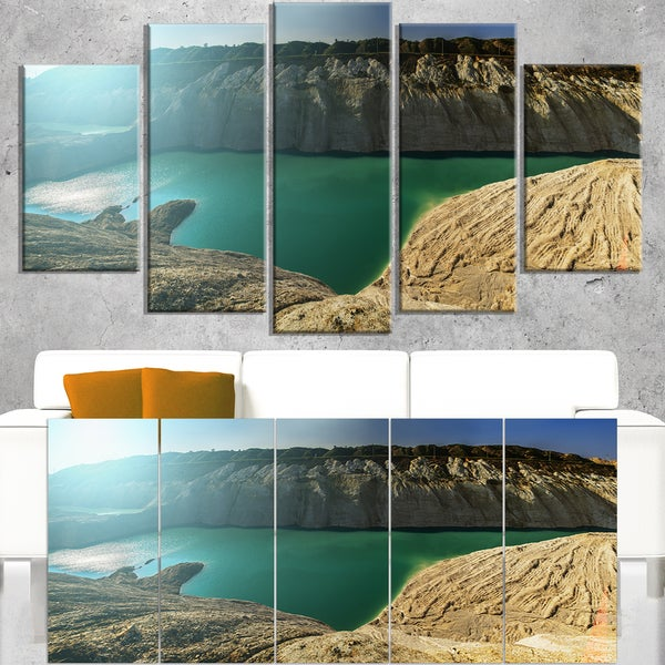 Chalk Quarry in Belarus Panorama - Landscape Print Wall Artwork