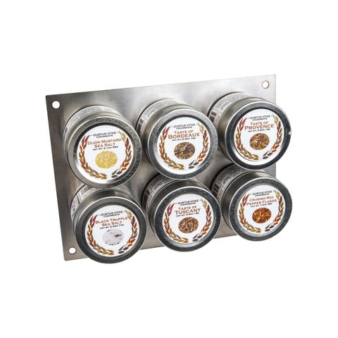Gourmet European Landscape Collection Spice Tins (Set of 6)