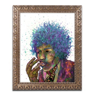Marlene Watson 'Jimi Hendrix' Ornate Framed Art