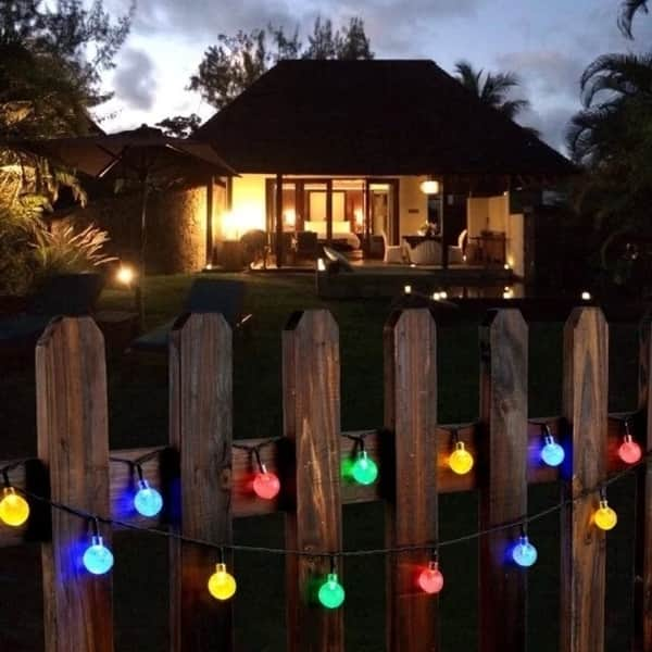 Outdoor String Lights Solar Decorative Light With 30