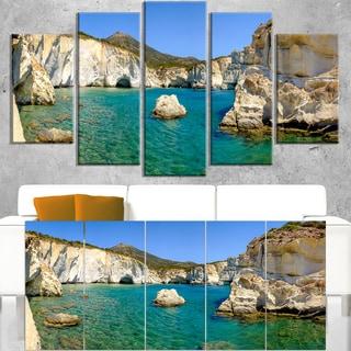 Turquoise Water Beach Panorama - Extra Large Seashore Canvas Art