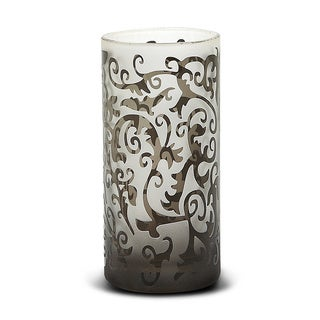 Impulse Black Glass Scroll Votive