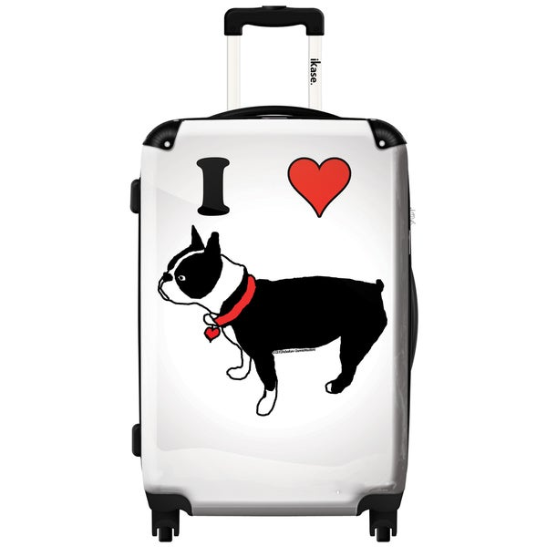 iKase I Heart Boston Terriers 24-inch .Hardside Spinner Luggage