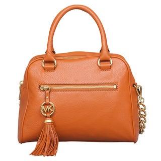 Michael Kors Medium Knox Tassel Burnt Orange Satchel Handbag