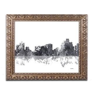 Marlene Watson 'Reno Nevada Skyline BG-1' Ornate Framed Art