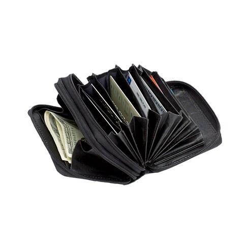 Goodhope Black Leather Mega Wallet