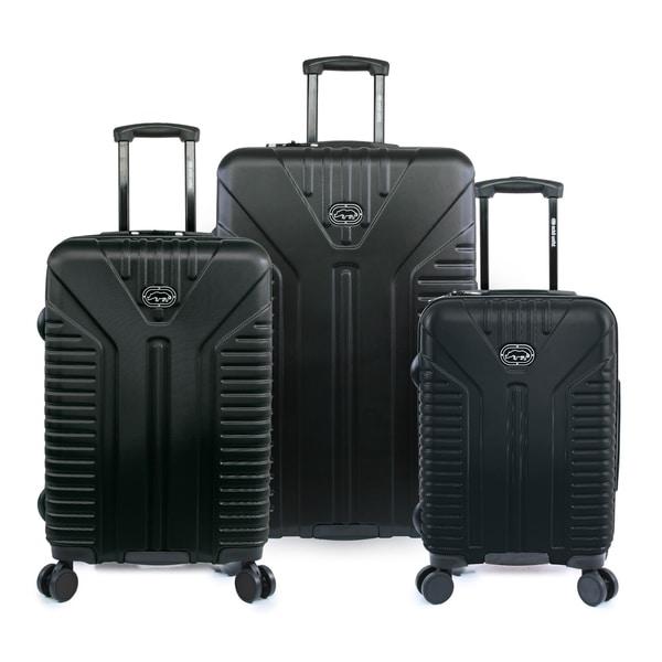 Ecko Unlimited Clyde 3 Piece Hardside Lightweight Spinner Luggage Set