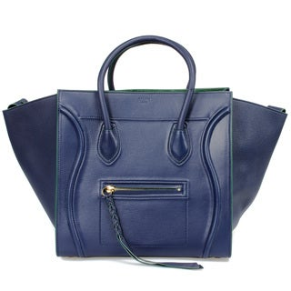 Celine Phantom Medium Navy Blue/Gold Hardware Designer Handbag