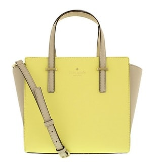 Kate Spade New York Cedar Street Small Hayden Crisp Linen/Lemonade Satchel Handbag