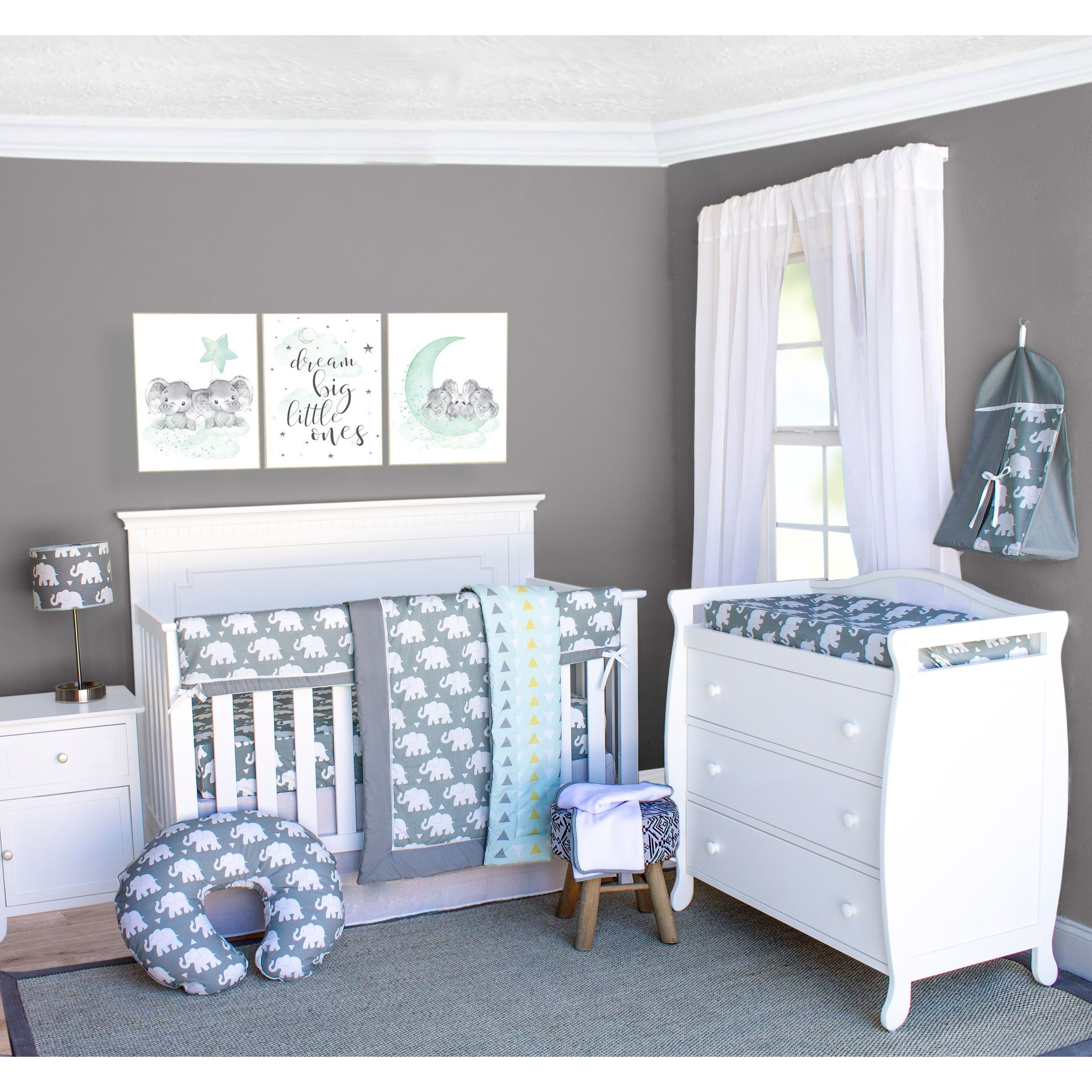 Pam Grace Creations Elephant Crib Baby Bedding Set 27-Piece Crib Set