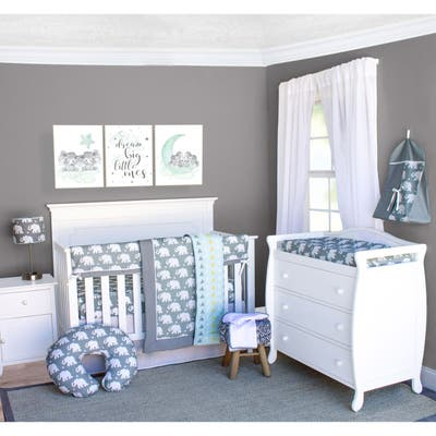 Pam Grace Creations Elephant Crib Baby Bedding Set 6-Piece Crib Set