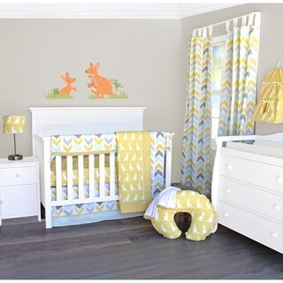 Honeydew Kangaroo 6-Piece Crib Bedding Set by Pam Grace Creations
