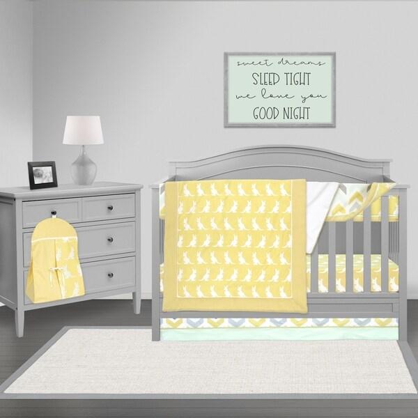 Shop Pam Grace Creations Yellow And Gray Giraffe Crib Baby