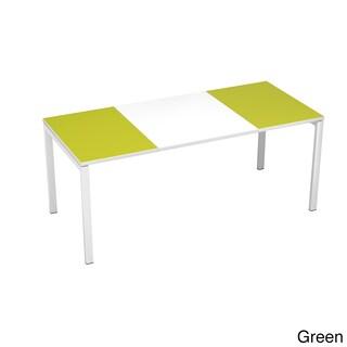 Paperflow easyDeskl 55-inch Long Training Table (Option: Green/White)