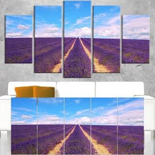Blooming Lavender Flower Field - Oversized Landscape Wall Art Print