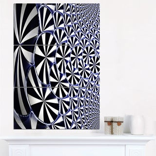 3D Shaped Black and White Flower Design - Modern Floral Canvas Wall Art